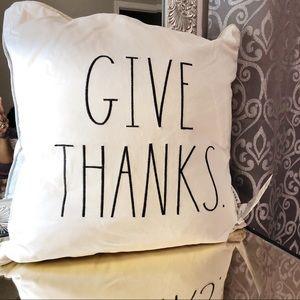 Rae Dunn GIVE THANKS 20x20 Pillow
